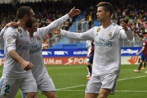 Hráči Realu Madrid sa radovali z triumfu nad Eibarom.