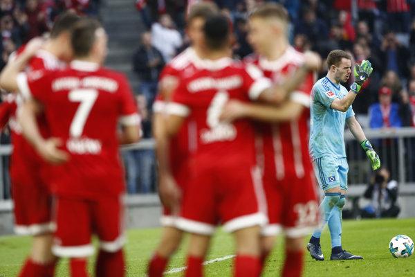 Bayern strelil Hamburgu šesť gólov.