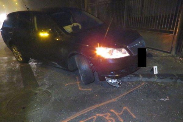 Jedna z nehôd, ktorú spôsobil opitý vodič.