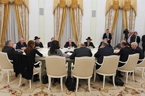 Putin na stretnutí s predstaviteľmi Európskeho kongresu židov.