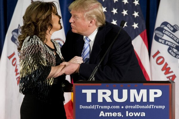 Sarah Palinová podporila Donalda Trumpa.