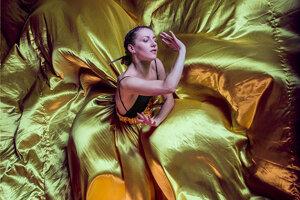 Michaela Cisariková počas predstavenia.