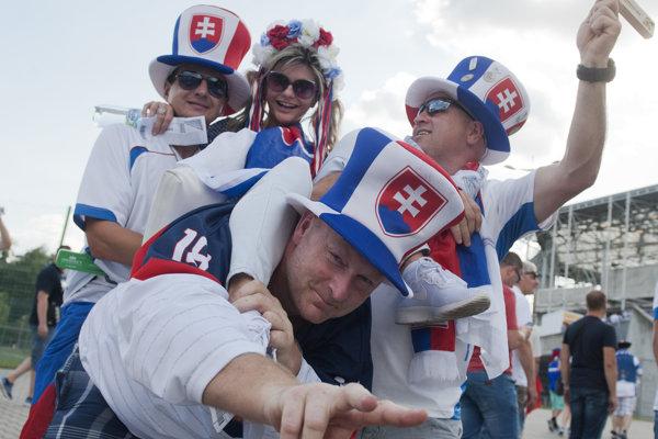 Slovenskí fanúšikovia.