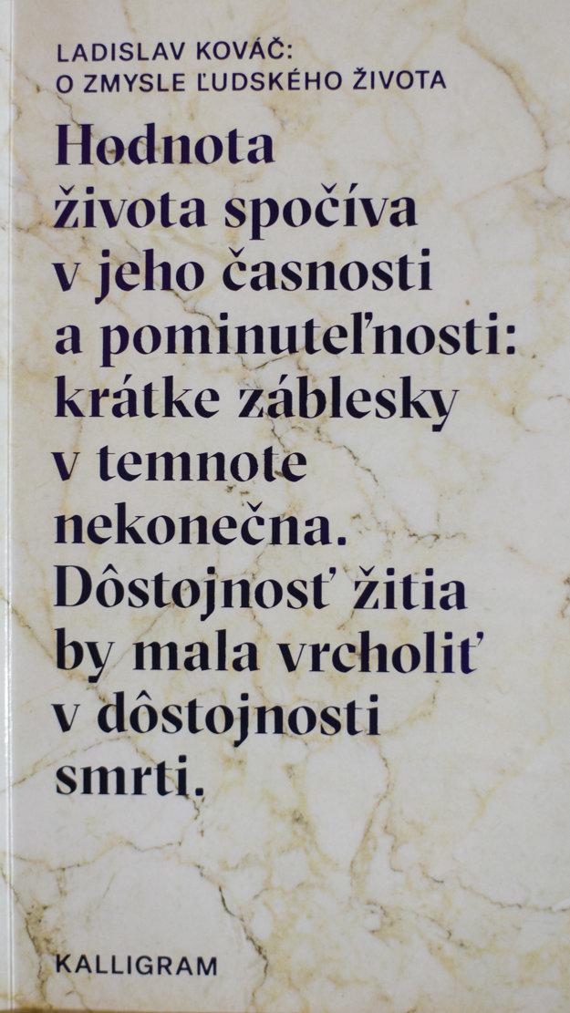Publikácia O zmysle ľudského života (Ladislav Kováč)