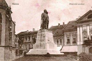 Socha honvéda v Košiciach.