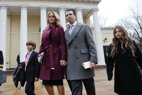 Donald Trump junior s manželkou Vanessou a deťmi.