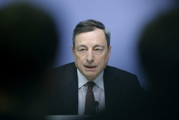 Šéf ECB Mario Draghi.