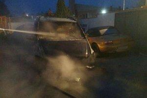 Sálavé teplo ohrozovalo aj vedľa stojaci žltý kabriolet značky BMW.