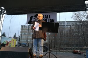 Organizátor protestu Krasimír Damjanov.
