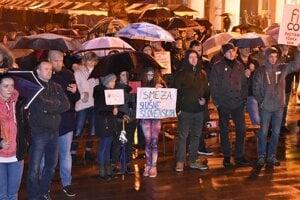 Protestné zhromaždenie v Púchove.