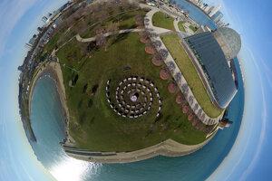 dron, panorama