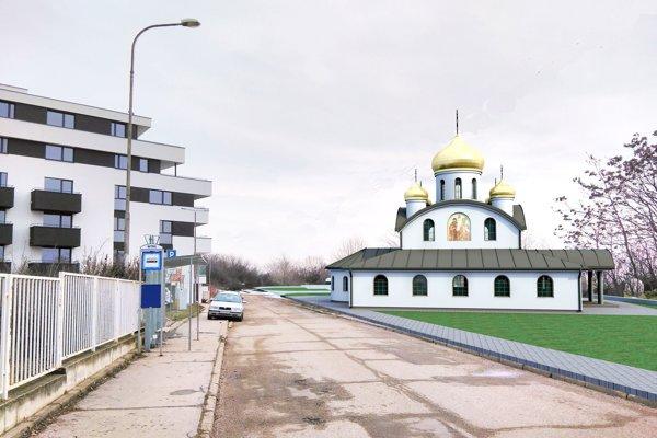 Takto má vyzerať pravoslávny kostol na Rázusovej ulici.