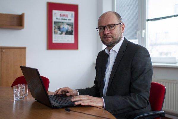 Richard Sulík v redakcii SME.