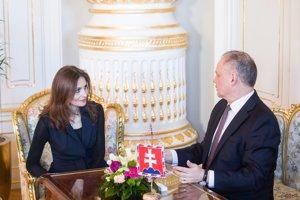 Andrea Kalavská na stretnutí s Andrejom Kiskom.