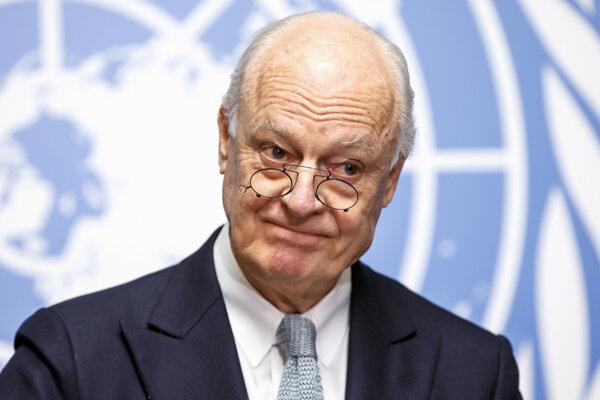 Osobitný vyslanec OSN pre Sýriu Staffan de Mistura.