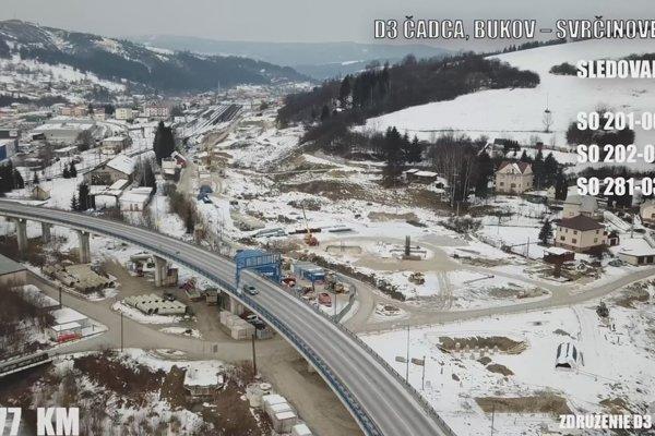 Práce na úseku diaľnice D3 Čadca, Bukov - Svrčinovec prebiehajú podľa harmonogramu.