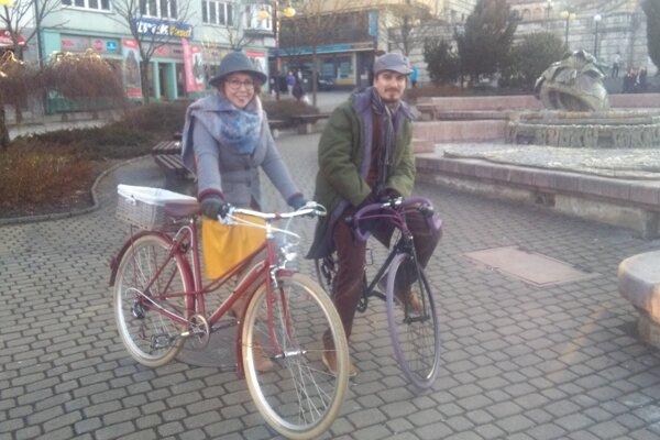 Zrekonštruovaný bicykel na cyklojazde.