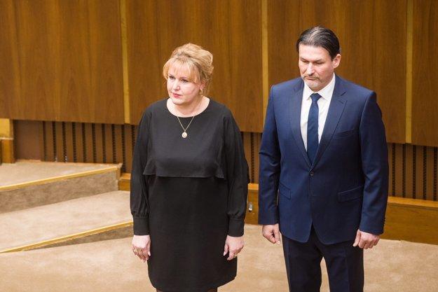 Janíková a Balódi zložili poslanecký sľub.