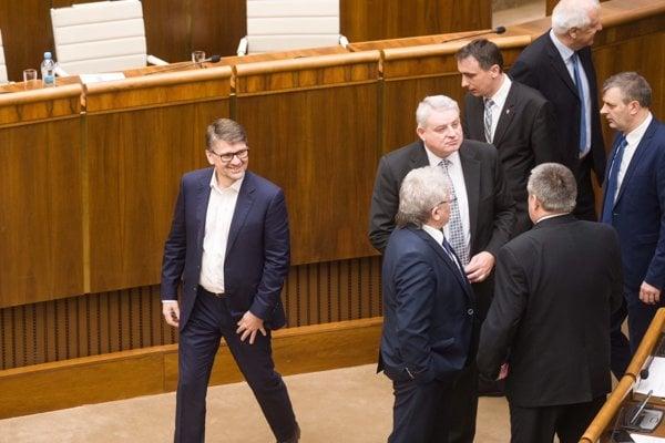 Marek Maďarič v parlamente.