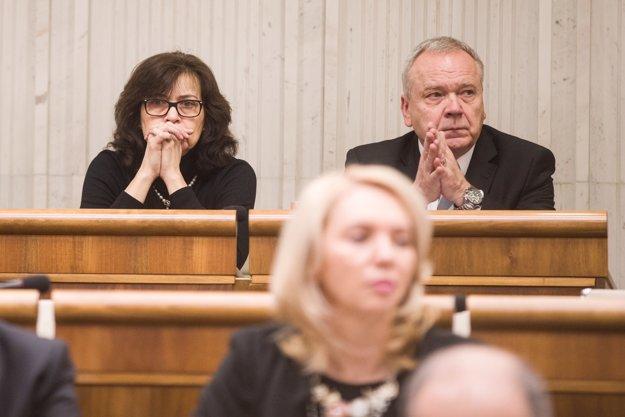 Lucia Žitňanská v parlamente.
