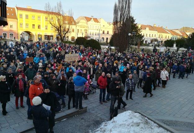 Protest v Prešove.