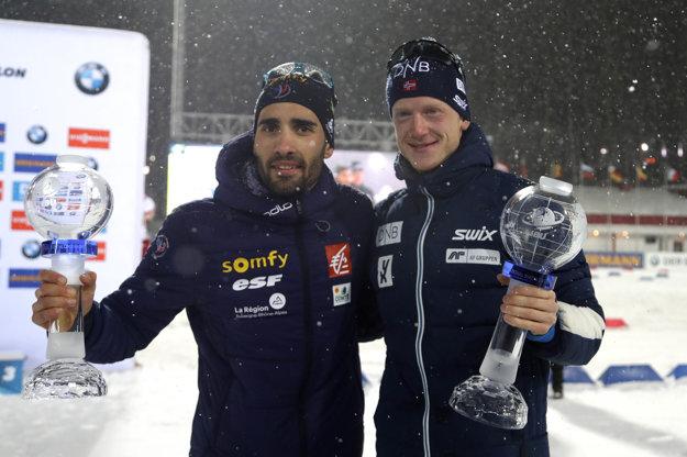 Martin Fourcade so svojím najväčším rivalom JohannesomThingnesom Böom.