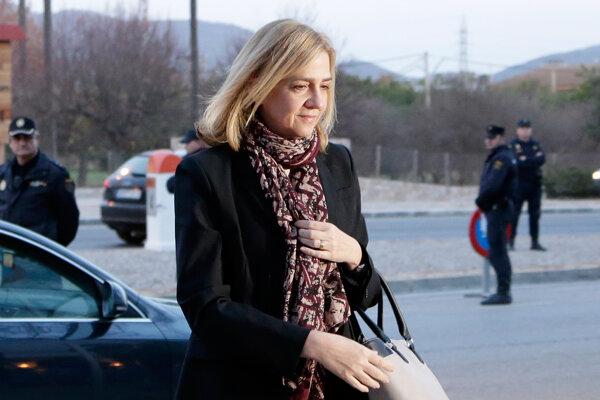 Najmladšia dcéra kráľa Juana Carlosa čelí dvom obvineniam z daňových podvodov v súvislosti so svojou činnosťou v charitatívnej nadácii Nóos.