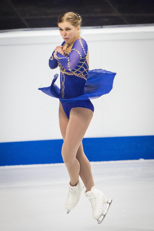 Slovenka Nicole Rajičová počas krátkeho programu žien.