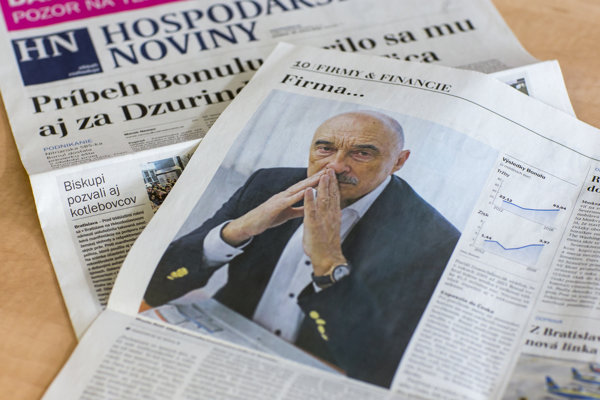 Fotografia Miroslava Bödöra v Hospodárskych novinách, ktorú Hospodárske noviny nevlastnia.