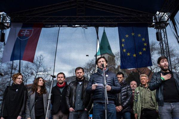 Štvrtkový pochod v Bratislave.