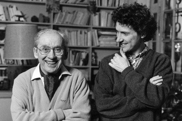 Francúzsky filozofi Paul Ricoeur  (1913 – 2005) a Oliver Abel.