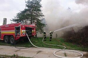 Foto z požiaru.