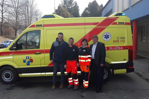 Moderná sanitka dostala meno Anka po jednej zo záchranárok.