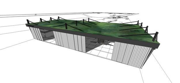Model nového hangáru na letisku Kuchyňa, ktorý načrtlo ministerstvo obrany.