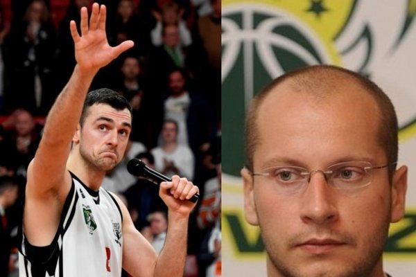 Zľava nový manažér - Marko Batina, vpravo starý - Martin Boško.