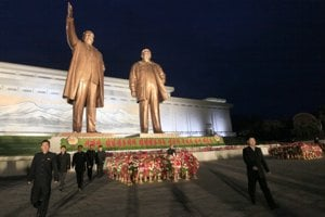 Námestie v Pchjongjangu.