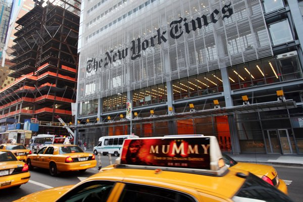 Sídlo novín New York Times.