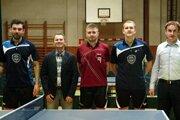 Zľava: Pavel Valko, Martin Ďuračík – manažér, Luka Fučec, Ivan Páleník, Anton Smitka -prezident.
