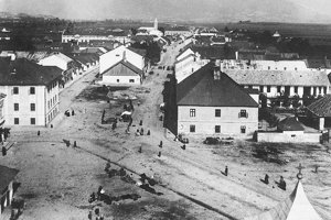 Martinské námestie v 19. storočí.