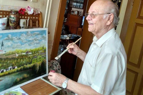 Vojtech Kertész st. má už 83 rokov, a stále maľuje.