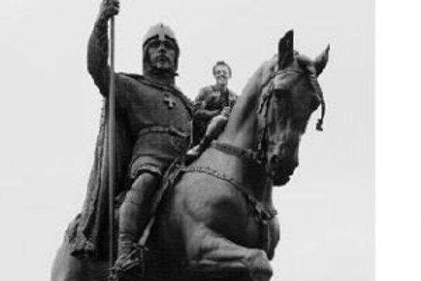 Dvaja na koni sv. Václava.