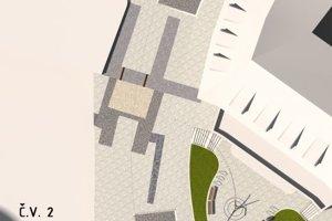 Vizualizácia rekonštruovanej časti námestia.
