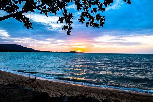 Koh Samui, druhý najväčší ostrov Thajska.