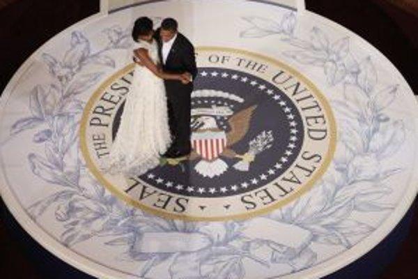 Šťastní - Barack a Michelle.