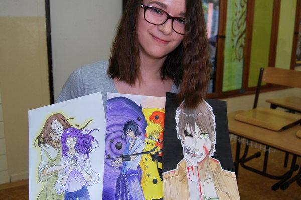 Martina Trebatická kreslí v japonskom štýle manga