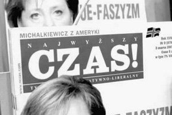 Napätie vo vzájomných vzťahoch sa prenieslo aj do médií. Takto nemeckú kancelárku vidí poľský týždenník Czas.