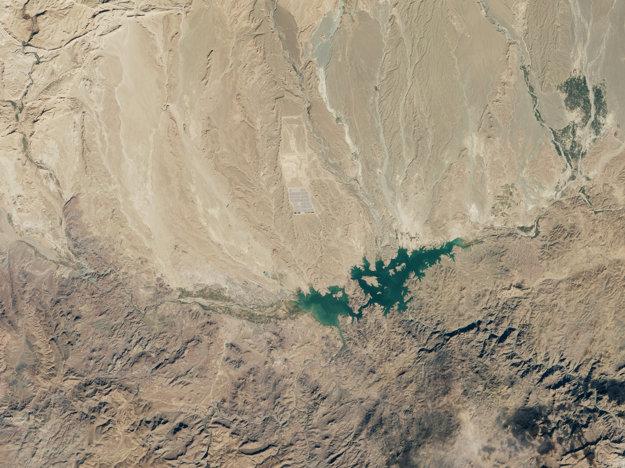 Satelitný záber na fázu Noor 1.