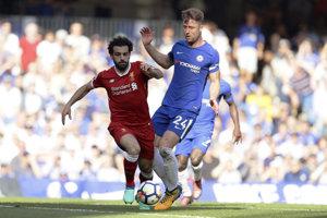 Mohamed Salah sa proti Chelsea nedokázal presadiť.