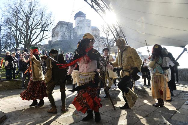 Fašiangy na Trenčianskom hrade.
