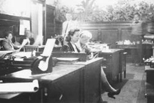 Pisárky v Bretton Woodse prepisovali množstvo finančných dokumentov.